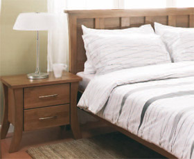Warfold Double Bed & Bedside Table